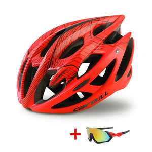 Open image in slideshow, TRAIL DH MTB Bicycle Helmet with Sunglasses - Ultralight Racing Cycling Helmet