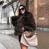 Natural Real Fox Fur Coat - Winter Jacket - CRAZY DISCOUNT DEALS