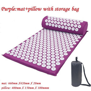 Open image in slideshow, Acupuncture Yoga Mat and Pillow Set