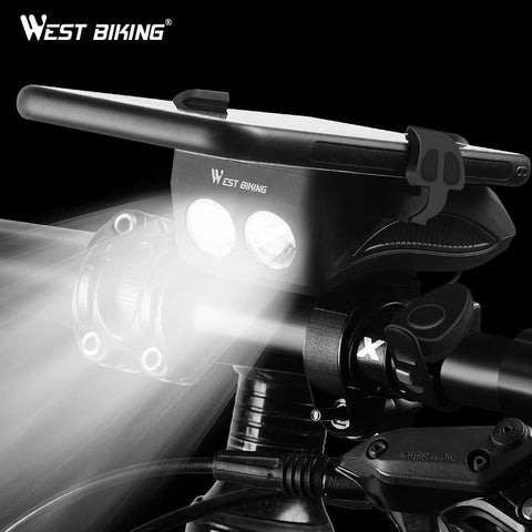 4 IN 1 - Multifunction Bicycle Front Light - Horn - Phone Holder - Power Bank - CRAZY DISCOUNT DEALS