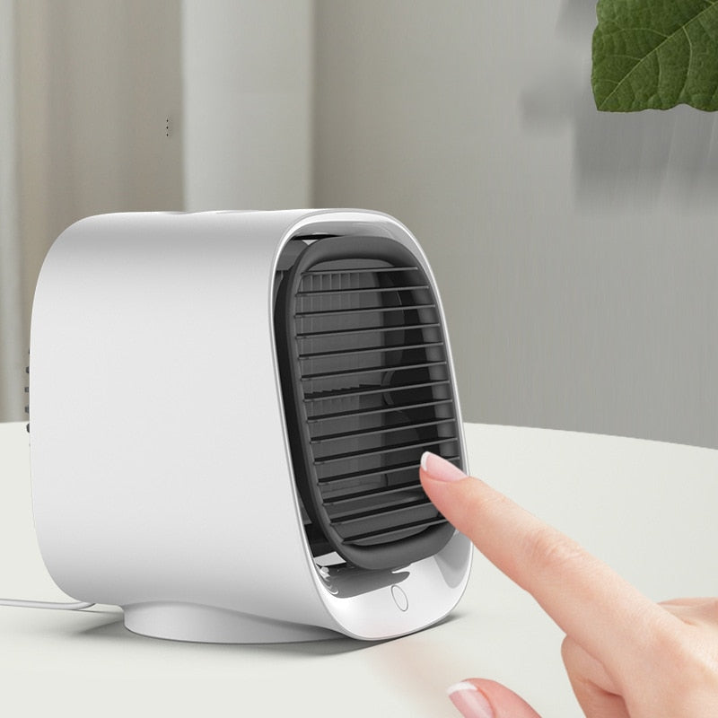 Mini Portable Air Cooler + Humidifier + Night Light
