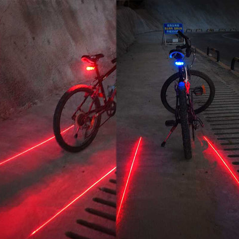 MTB Road Rear Taillight Lamp - Cycling Night Riding - CRAZY DISCOUNT DEALS