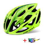 TRAIL DH MTB Bicycle Helmet with Sunglasses - Ultralight Racing Cycling Helmet - CRAZY DISCOUNT DEALS