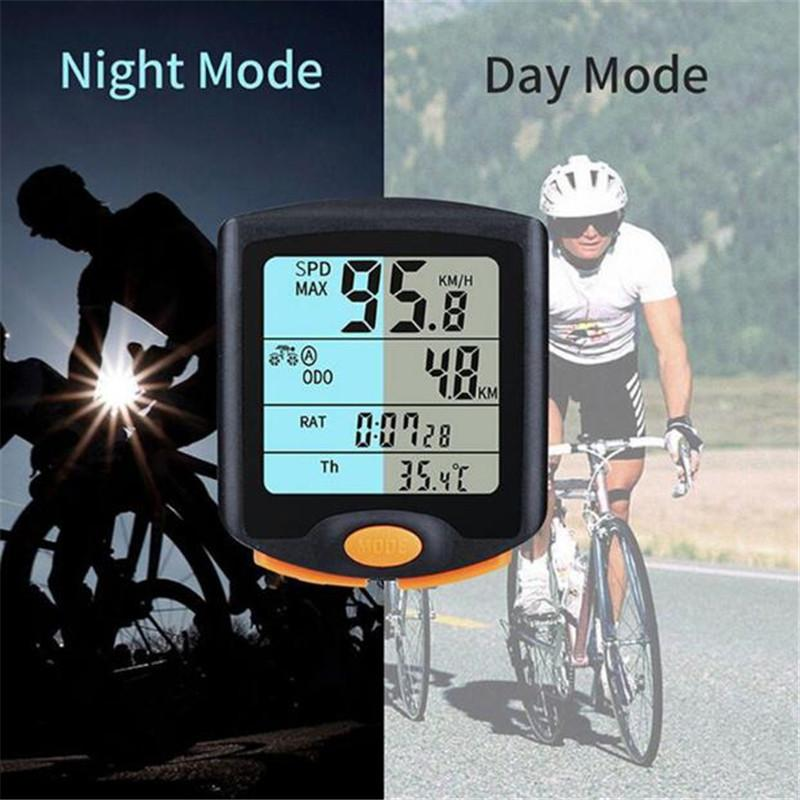 Wireless Bike Dashboard - Rainproof LCD Night Vision