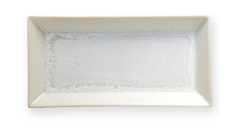 Vuelta White Pearl Rectangular Tray