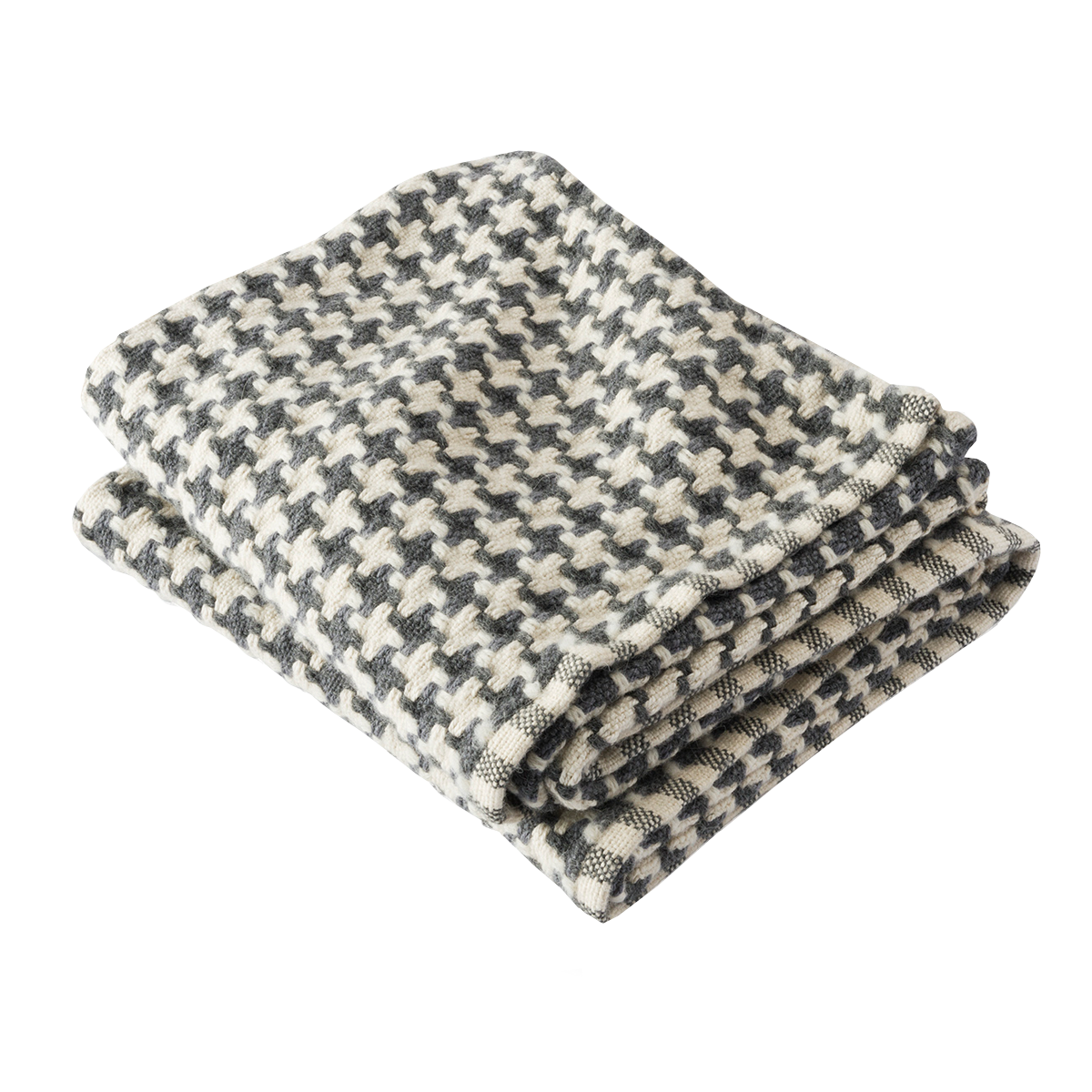 Chunky Houndstooth Throw Slate/Natural