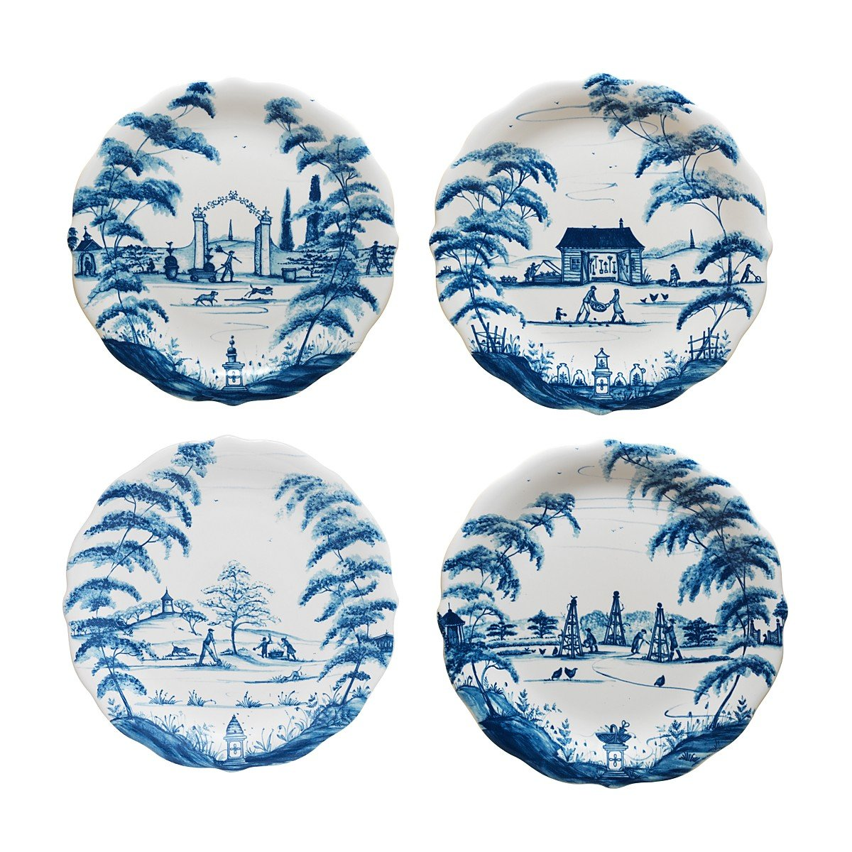 Country Estate Delft Blue Party Plates Set of 4