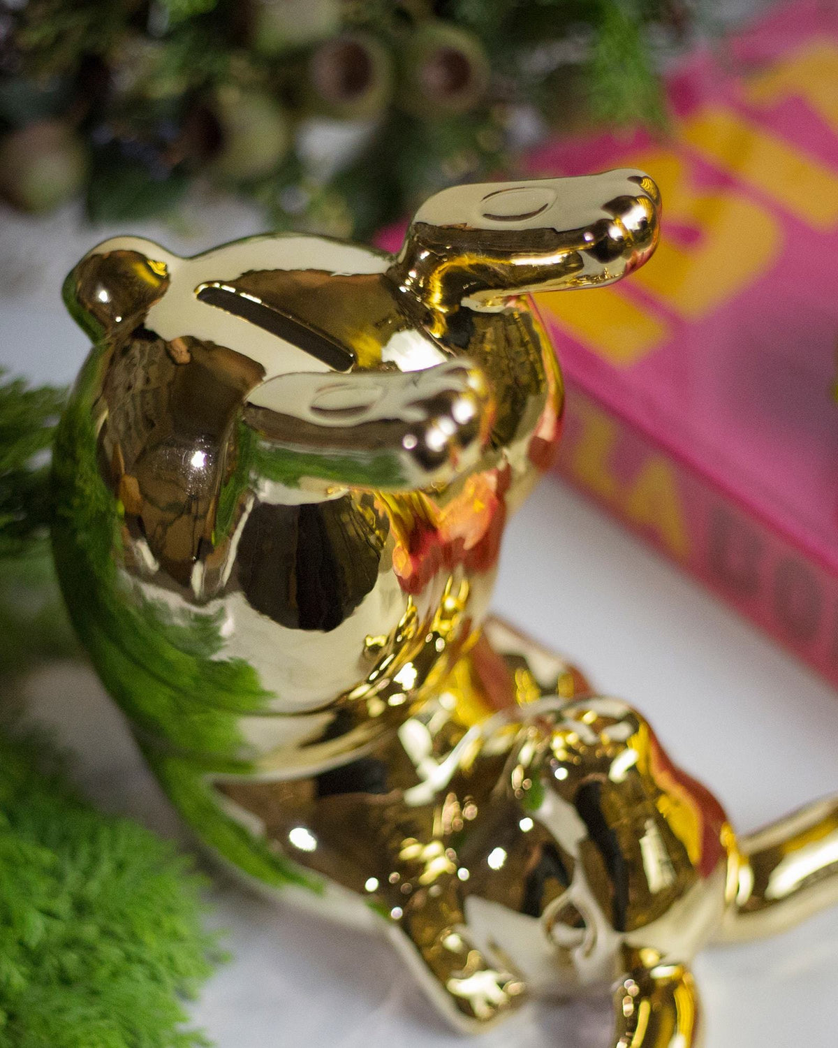 Bunny Gold Moneybox - Bum (detailed)