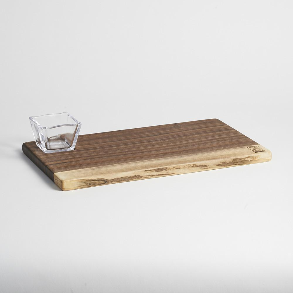 ANDREW PEARCE/SIMON PEARCE COLLABORATION BOARD AND GLASS BOWL