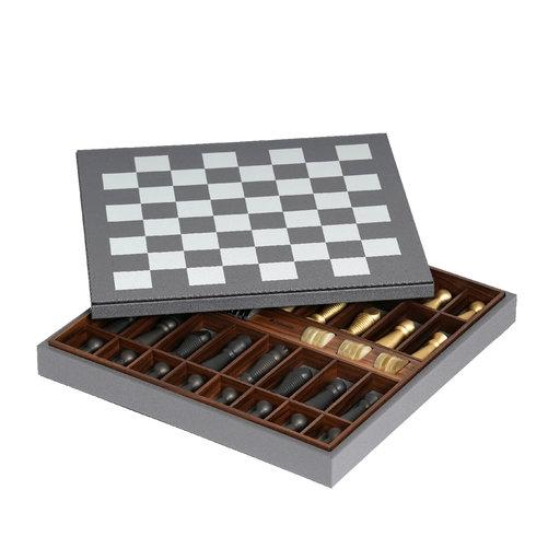 Grey Leather Chessboard