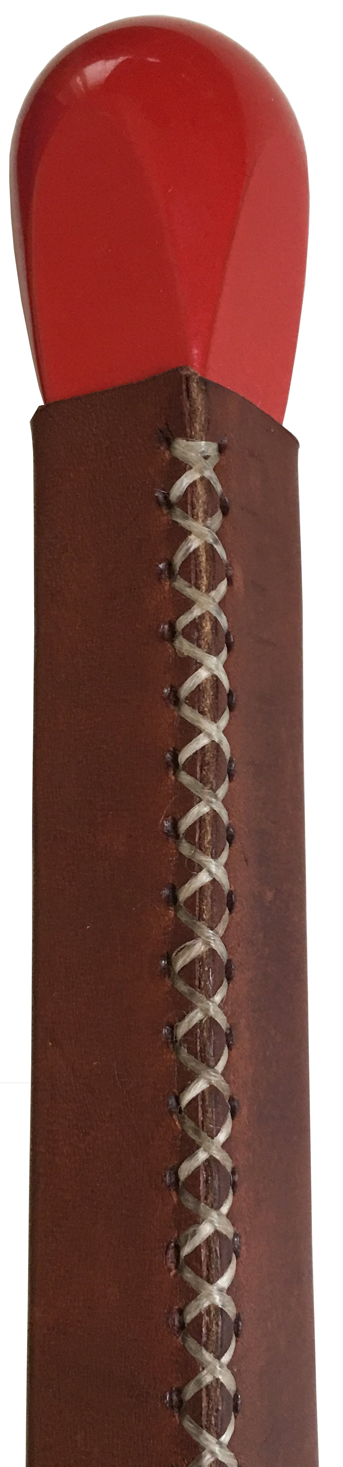 Match-Shaped Lighter, Brown Leather