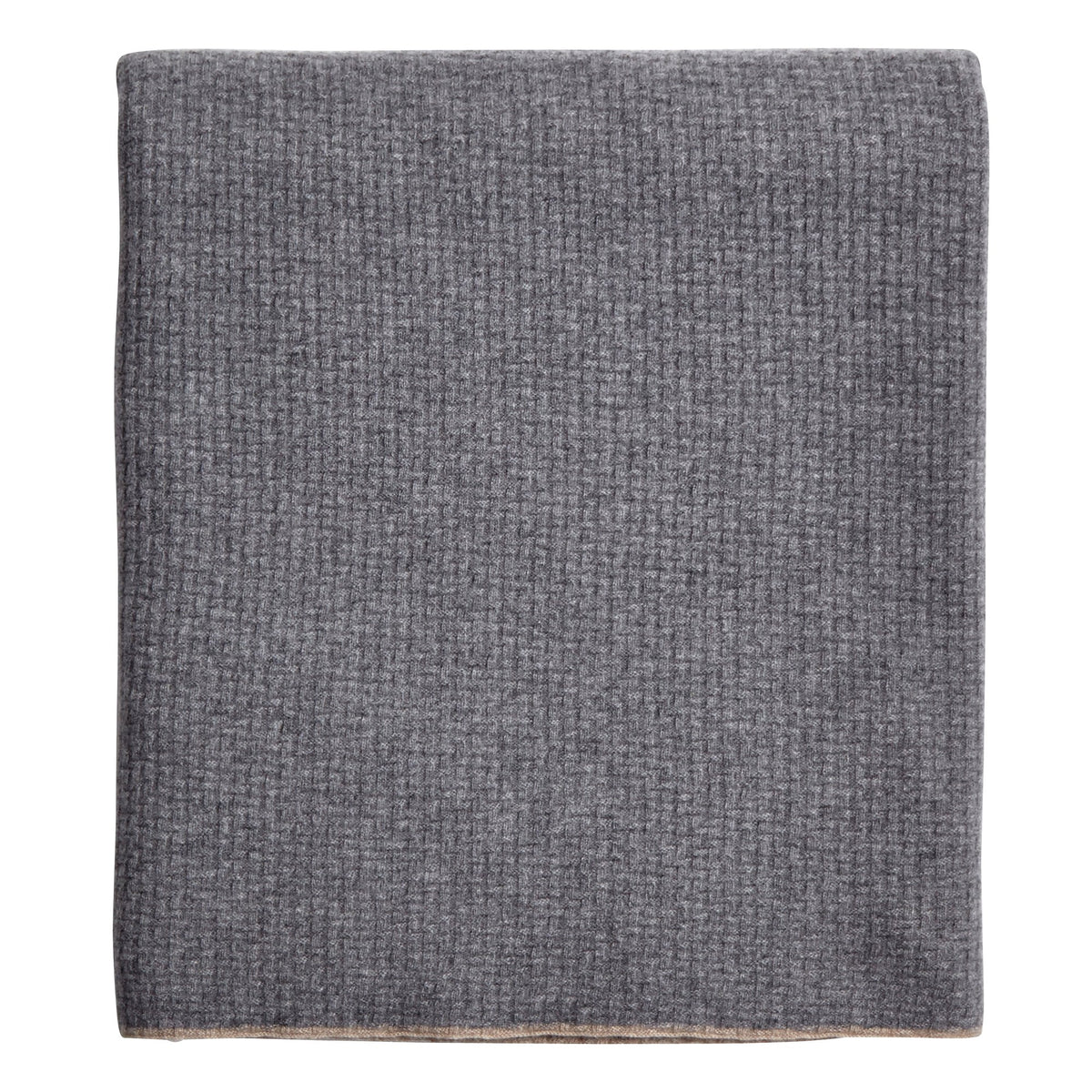 Sorrento Rice Grey Cashmere Throw