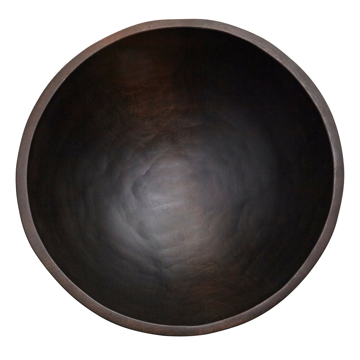 Black Ebonized Round Bowl 18""