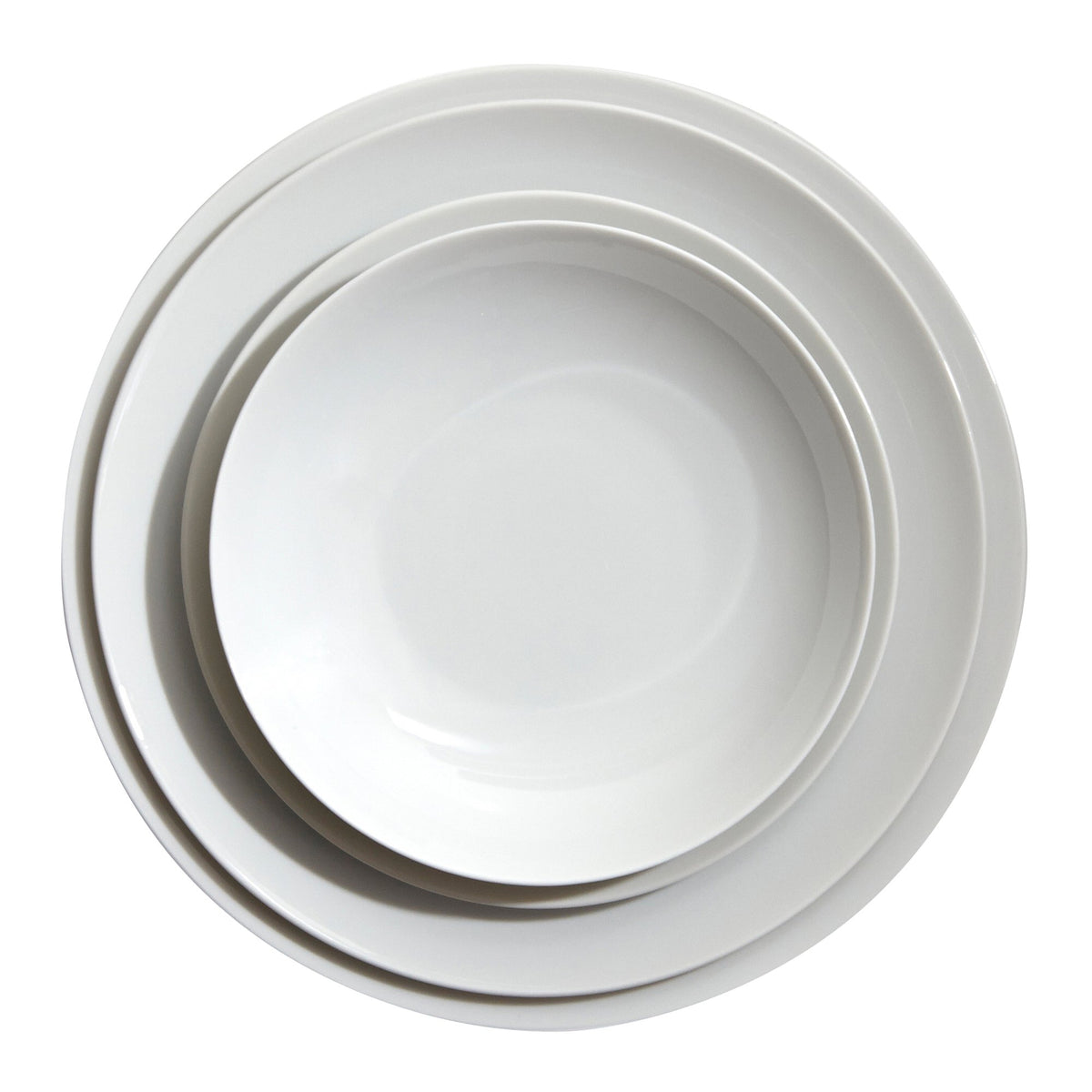 Medaillon White Porcelain Dinner Plate
