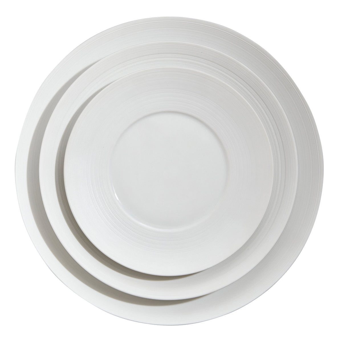 Hemisphere White Large Porcelain Center Dinner Plate