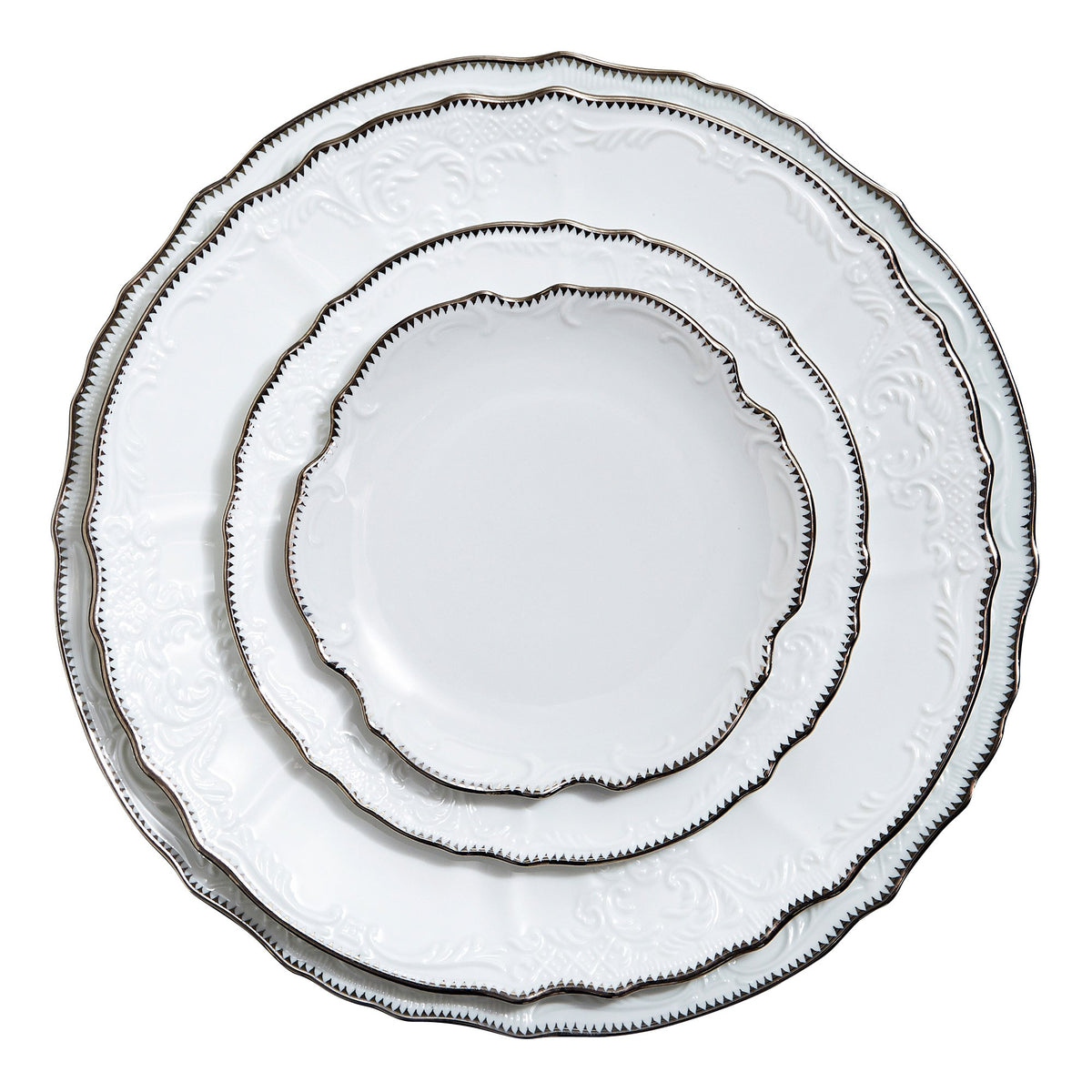 Simply Anna Platinum Dinner Plate