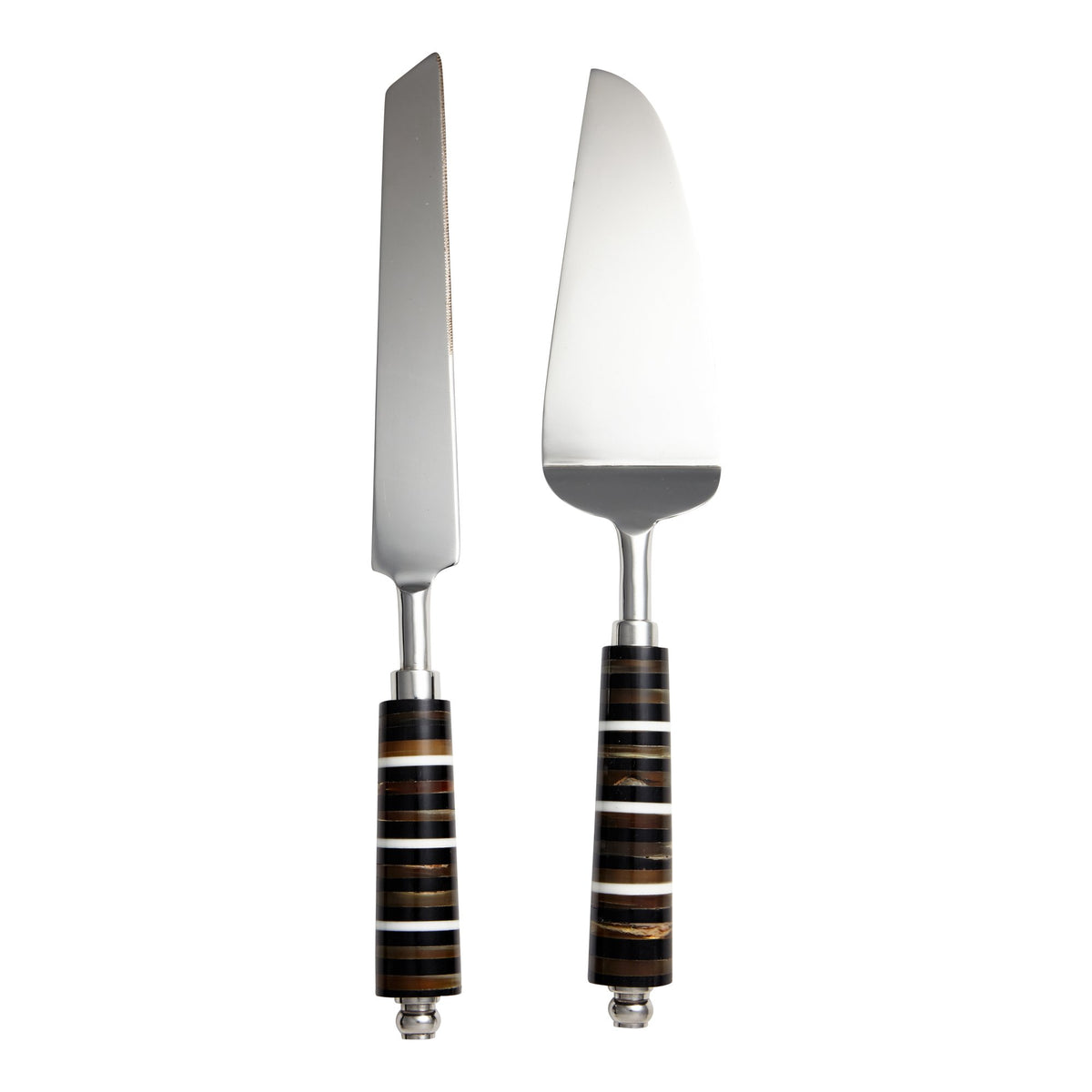 Dessert Set with Horn and Bone Handle