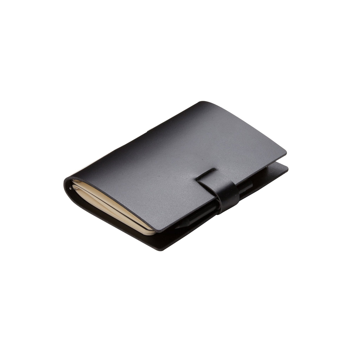 Small Black Elaine Leather Notebook