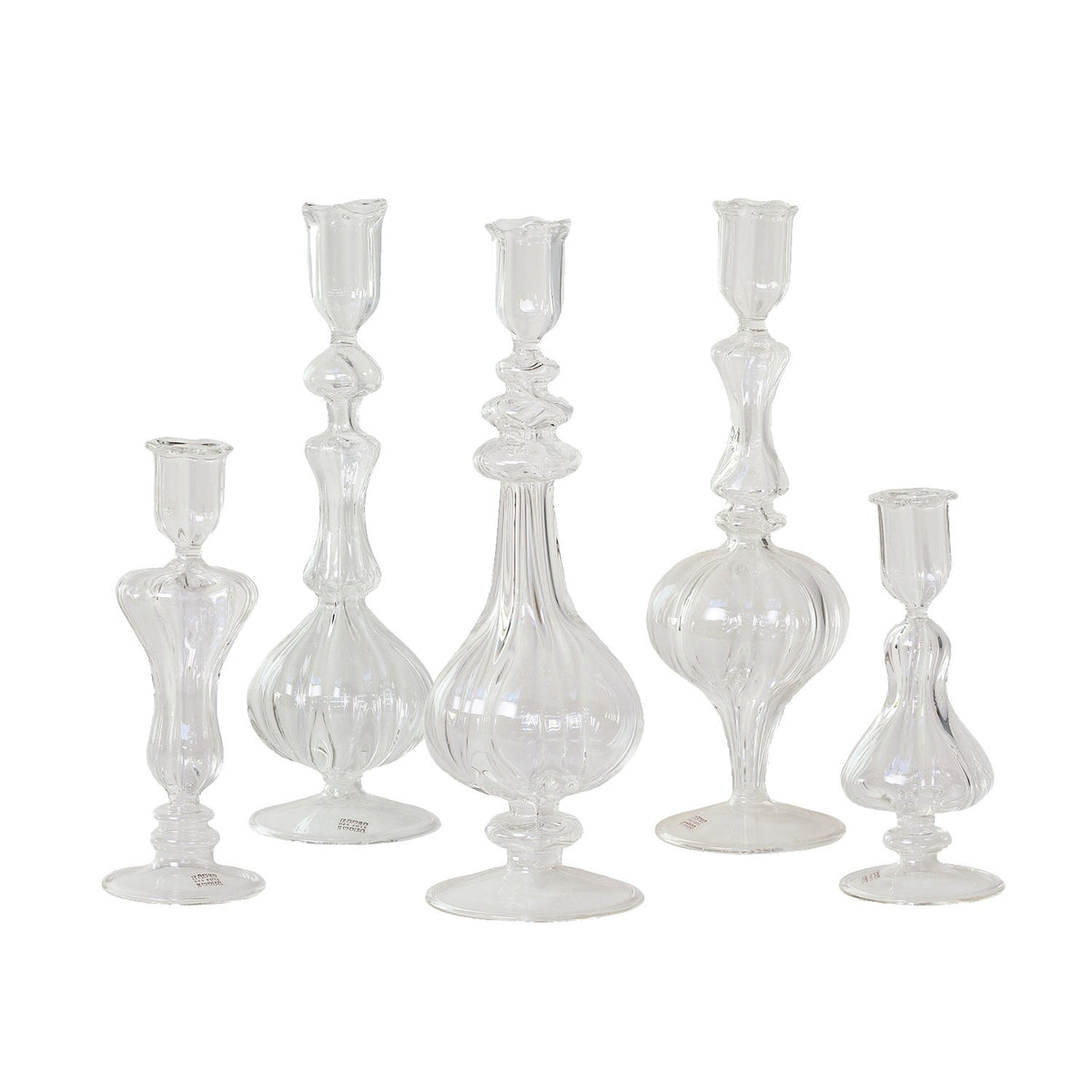 Glass Candlesticks, 1 pc