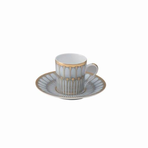 Arcades Grey Gold Coffee Saucer