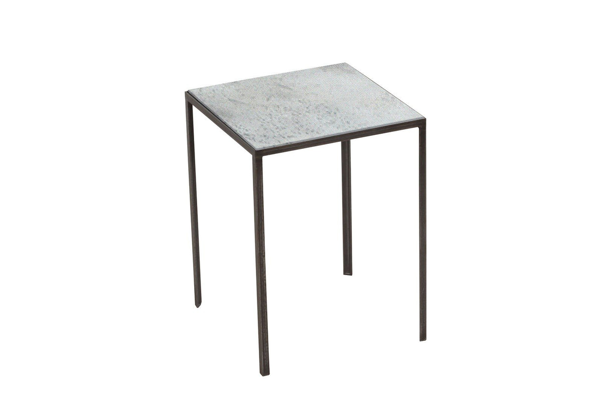 Small Clear Patchwork Side Table