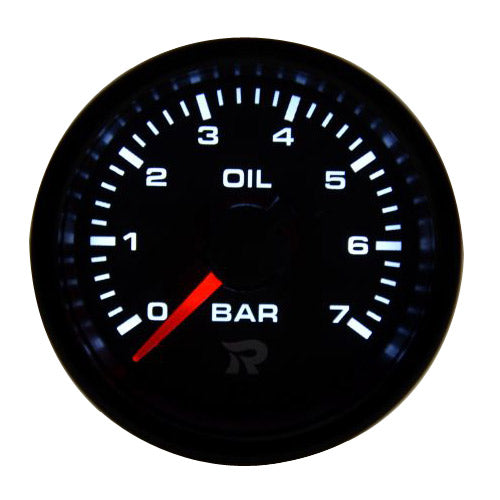RICO 45mm Oil pressure gauge BAR (NEW faceplate/dial design)