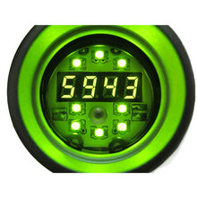 Load image into Gallery viewer, Digital Tachometer RPM shift light black GREEN LED