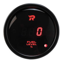 Load image into Gallery viewer, Digital Fuel level gauge 100% RED LED with warning (0-180ohms) SENSOR SOLD SEPARATELY