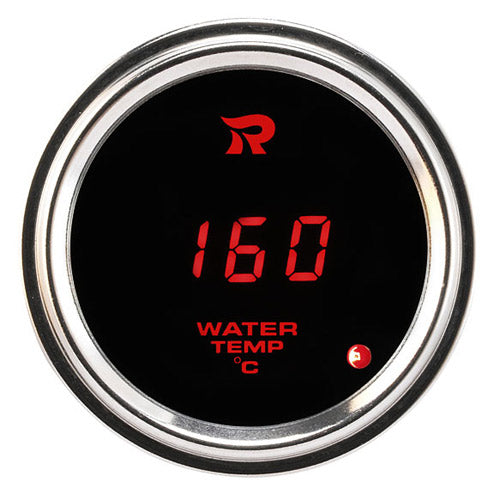 RICO Digital Waterproof Oil temperature gauge Celsius RED LED