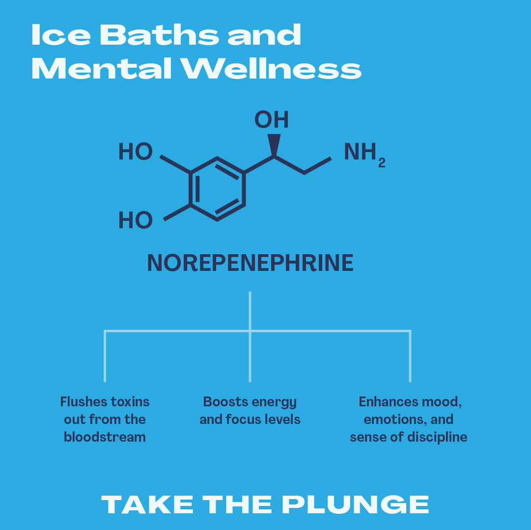 Mental Wellness and ice bathing infographic