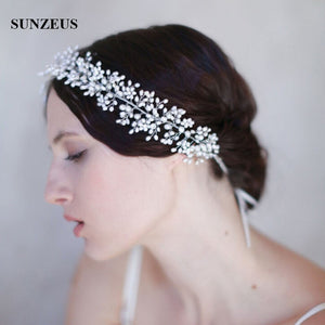 Accessoires Cheveux Mariage Pearls Head Chain 2019 New Fashion Wedding Hair Accessories Brides Hair Sash Headband SQ132