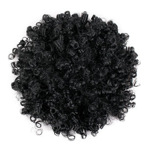 Synthetic Curly Hair Ponytail Drawstring Puff Short Kinky Wig African American Short Afro Kinky Curly Wrap Hair