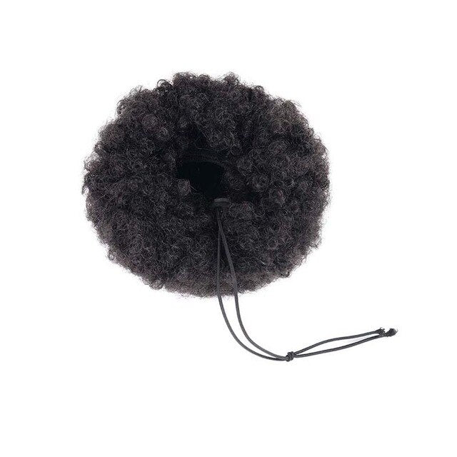 AILIADE Draw string Puff Afro Kinky Curly ponytail African American Short Wrap Synthetic clip in ponytail Hair Extensions 12inch