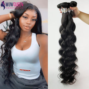 32 34 36 40 Inchs Body Wave Bundles WowQueen 30 Inch Bundles Remy Human Hair Bundles Top Quality Braizlian Hair Weave Bundles