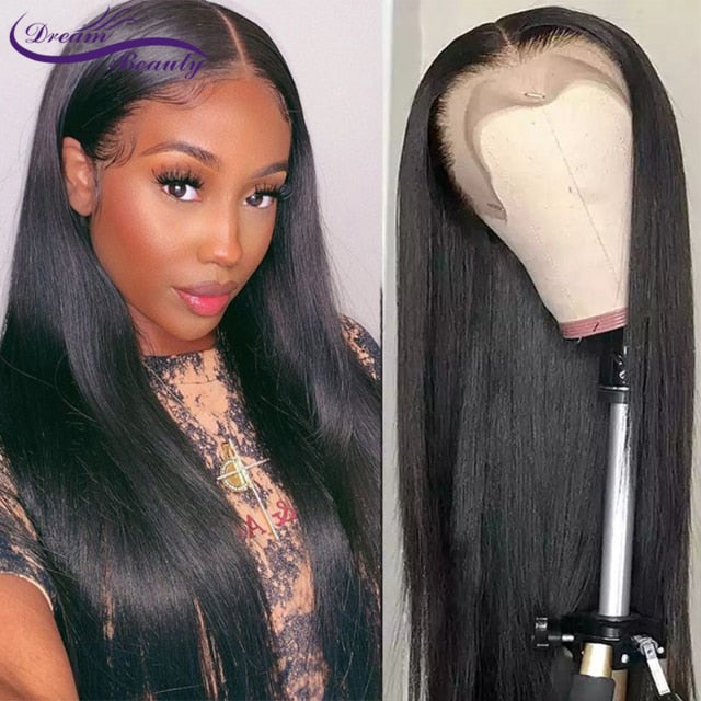 13x6 Lace Front Human Hair Wigs Brazilian Wigs 180% Straight Brown Color Lace Frontal Wigs For Black Women PrePlucked Human Hair