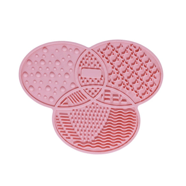 Silicone Makeup Brush Cleaner Make Up Washing Brush Washing Cosmetic Foundation Makeup Brush Cleaner Pad Scrubber Board Tool