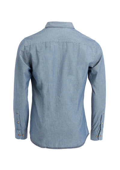 CHAMBRAY MULTI TRIM SHIRT