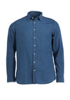 INDIGO DIAMOND WEAVE SHIRT
