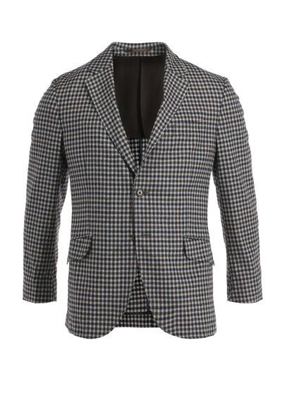 TWO TONE CHECK JACKET