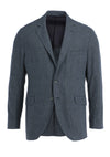 BRUSHED COTT BLUE CHK JACKET