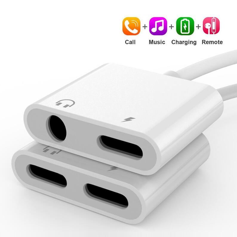 2 in 1 Audio Charge Adapter For iPhone