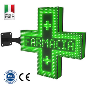 Green Led Pharmacy Cross (96cm | P10)