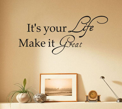 wallstickers tekst its your life
