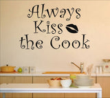 wallstickers køkken always kiss the cook