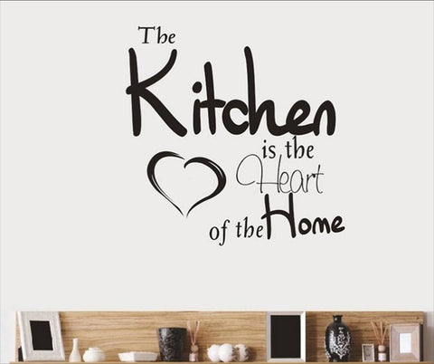 wallstickers køkken the kitchen is the heart