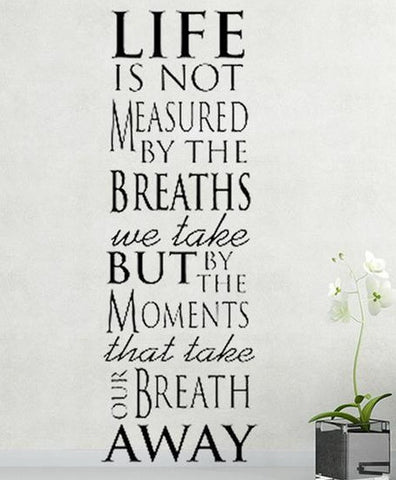 wallstickers tekst life is not measured