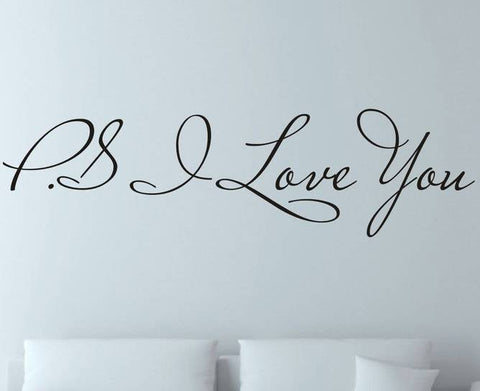 wallstickers tekst ps i love you