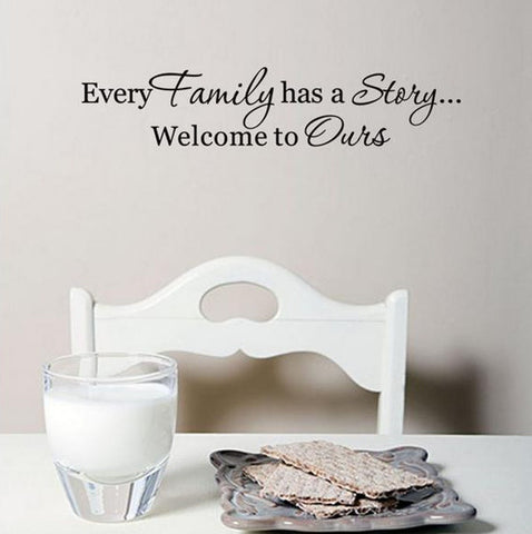 wallstickers tekst every family
