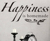 wallstickers tekst happiness is homemade