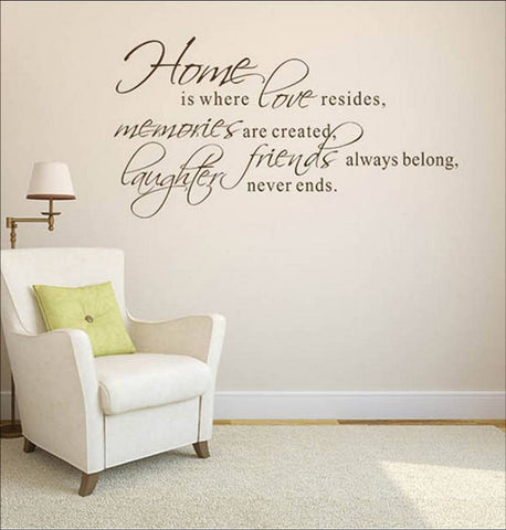 wallstickers tekst home is where love resides